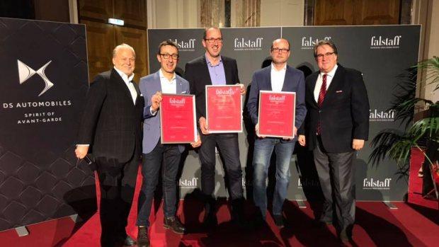 M1 bei der Falstaff Rotweingala 2018 prämiert