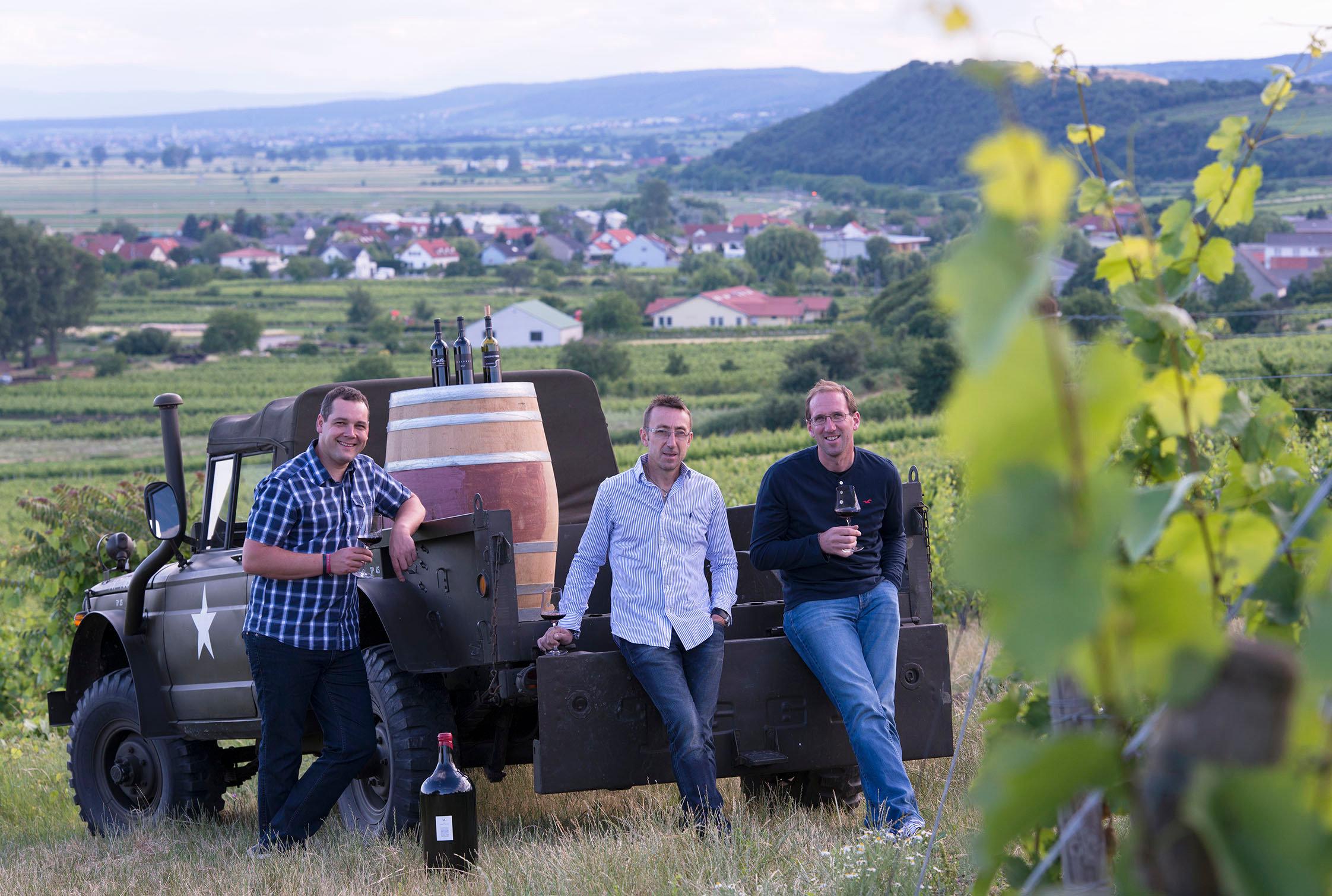 Die drei Joiser Renommee Winzer Karl Sattler, Hannes Steurer und Ronald Kiss (v.l.n.r.), Foto: © michael himml